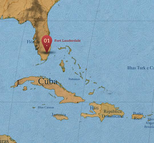 Mapa da área de Fort Lauderdale