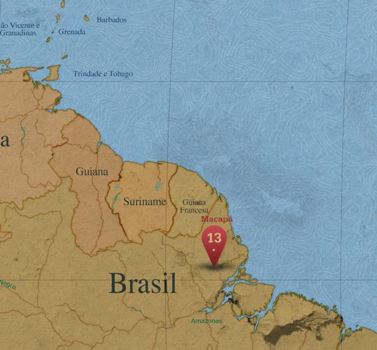 Mapa da área de Macapá