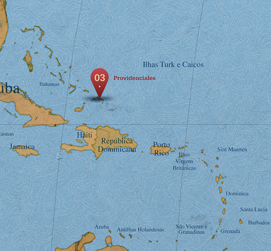 Mapa da área de Providenciales