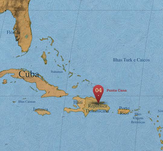 Mapa da área de Punta Cana