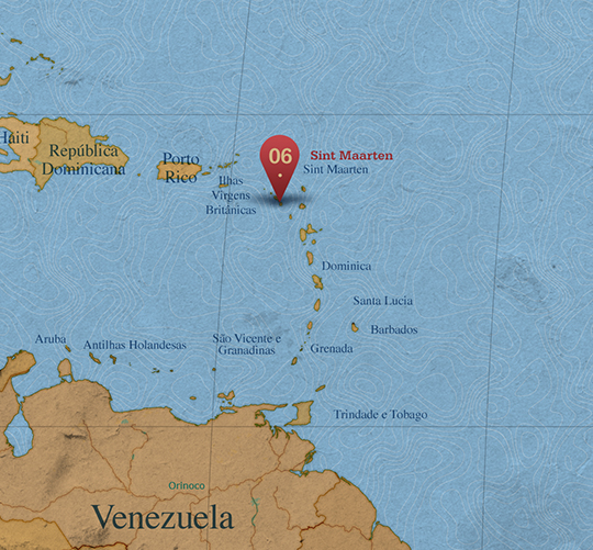 Mapa da área de Sint Maarten