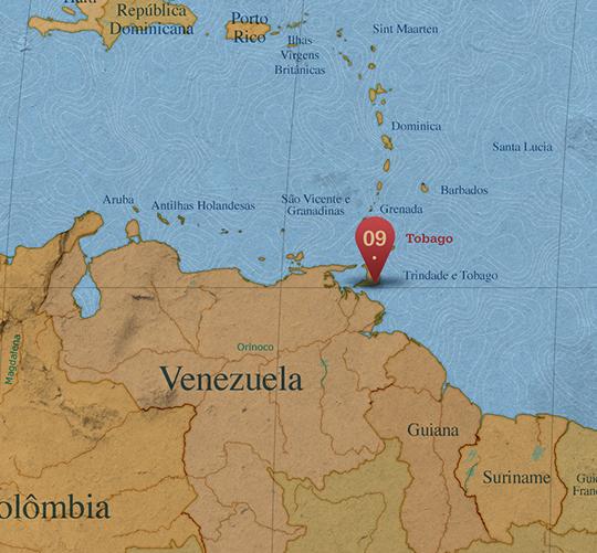 Mapa da área de Tobago